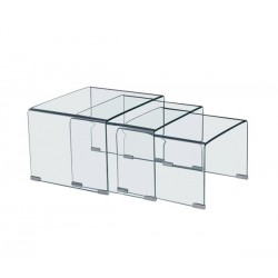 GLASSER set 3 βοηθ.τραπεζάκια
