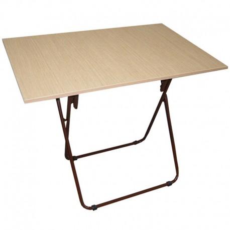 Τραπέζι Πτυσσόμενο Μεταλλικό Μελαμίνης 80x60x74εκ