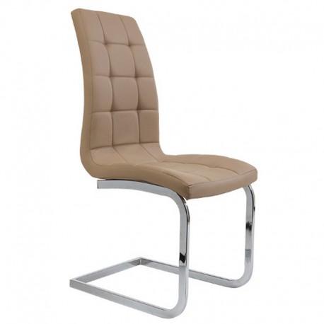 Semina Καρέκλα Μεταλλική PU 42x43x101εκ