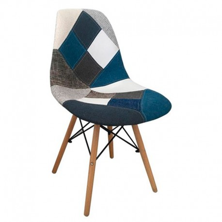 Art Wood Καρέκλα Ξύλινη Patchwork 47x52x84εκ