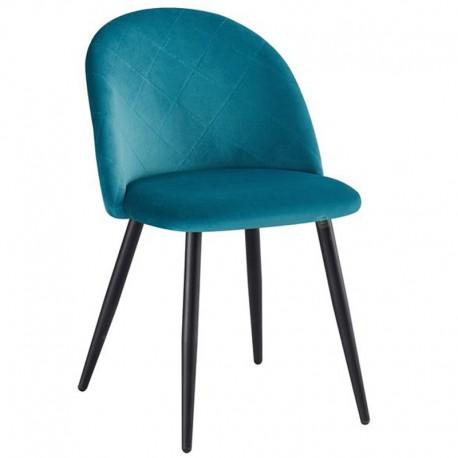 Bella Καρέκλα Μεταλλική Βελουτέ 50x57x81εκ