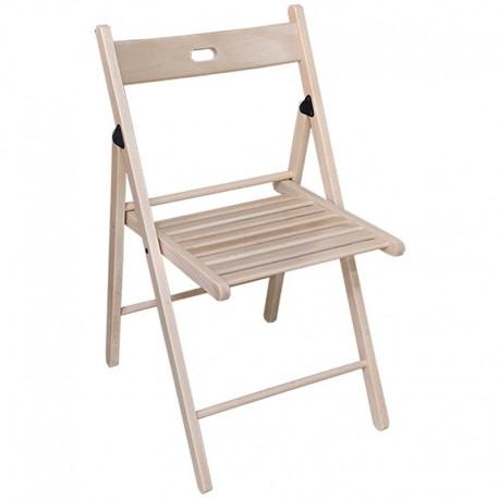 Μύκονος Πτυσσόμενη Καρέκλα Ξύλινη 42x60x80εκ