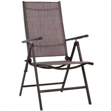 Nora Πολυθρόνα Μεταλλική Textilene Πτυσσόμενη 55x70x103εκ